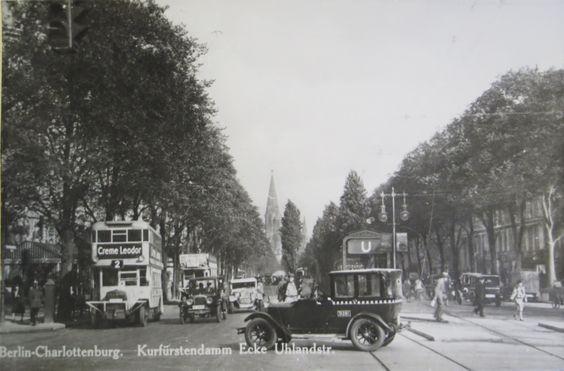 Um 1920 Kurfuerstendamm Ecke Uhlandstrasse