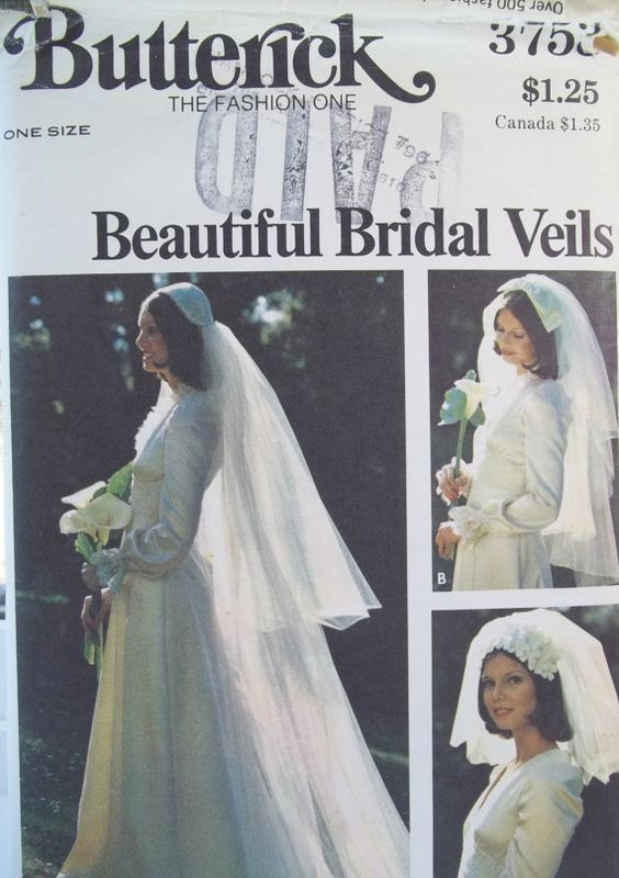 Retro 70\'s Bridal Veil Butterick 3753 Sewing by WitsEndDesign ...