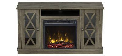 Twin Star International Bayport Tv Console W Electric Fireplace