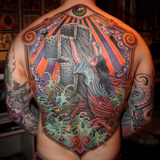 Tattoo Backpiece  Rockofages More Tattoos I Ve Rock Of Ages