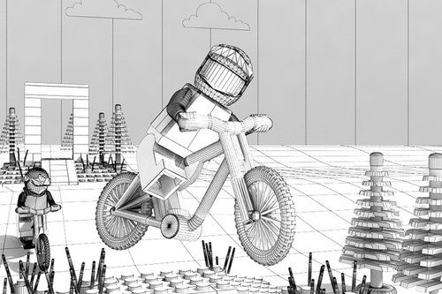 Sam Hill virtual Lego by James Dick by radek - Pinkbike