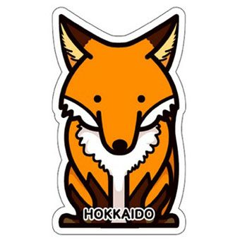 gotochi postcard renard hokkaido
