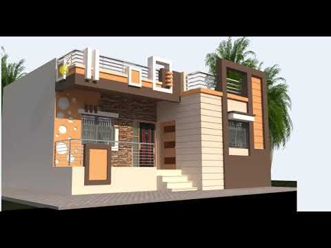 32 Feet Wide Low Cost House Front Design Youtube In 2019