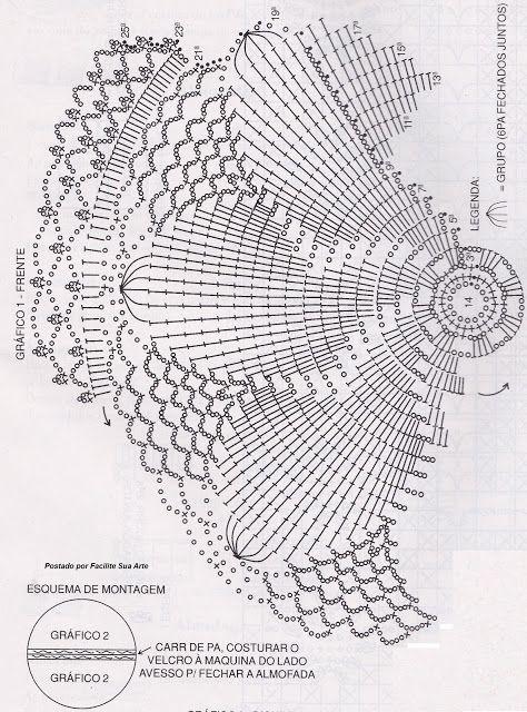 🌟 🌟 🌟 Almofada em Crochê 4 - Mimosa flor Uma Delicada flor em Almofada Encantador -  /   🌟 🌟 🌟 Cushion Crochet 4 - Mimosa Flower A delicate flower in Charming Pad  Glamourous -