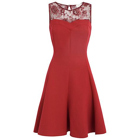 I discovered this Buy Almari Lace Top Flared Dress, Red online at John Lewis on Keep. View it now.