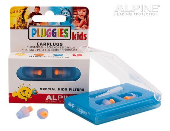 Pluggies Kids Ohrstöpsel sind speziell geeignet für die Dämpfung von übermäßigem Lärm und zu lauter Musik.