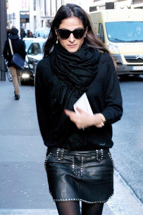 Capucine Safyurtlu in YSL skirt in Paris