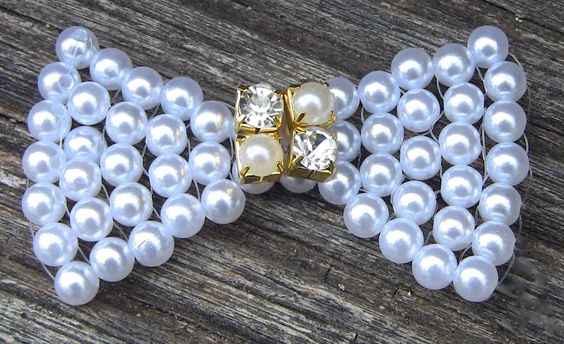 Como fazer um laço em Perolas FACIL -Lace pearls