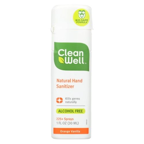 Clean Well Hand Sanitizer Orange Vanilla 1 Fl Oz Multi Hand