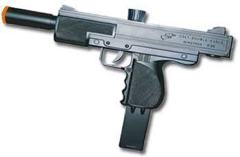 Airsoft Pistol Uzi Style Sping Loaded Cock and Shoot Single Shot Airsoft Gun by Double Eagle. $8.27. This is a uzi style single shot cock and shoot spring loaded airsoft gun made by double eagle. Shoots around 200 FPS. Magazine Hold 18 Rounds.