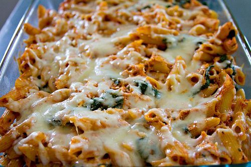 Chicken Penne Bake - Delish! I did half the pan with chicken, half without. I recommend halving the recipe if only for 2 ppl. Gave us leftovers for 2 days each!