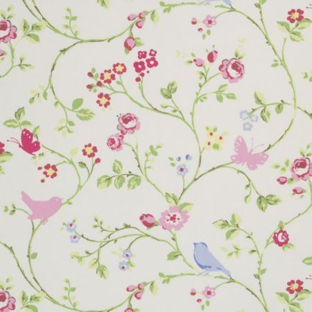 Prints Fabric - Bird Chintz Floral - Medium Fabric Pattern ...