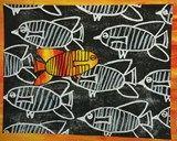 Artsonia Art Exhibit :: Fish Prints, always one on their own.
