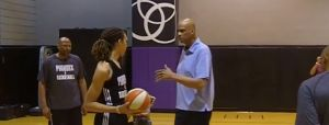 Brittney Griner Learns The Sky-Hook From Kareen Abdul Jabbar