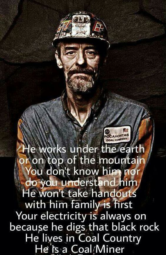 Coal keeps the lights on...God bless our miners.