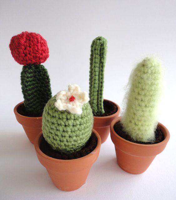 Etsy Amigurumi Cactus : Cactus, Amigurumi and Plants on Pinterest