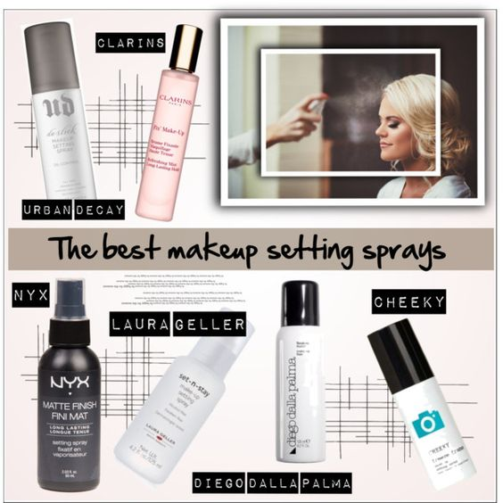 The best makeup setting sprays by deeyanago on Polyvore featuring Belleza, Urban Decay, Clarins and Crate and Barrel