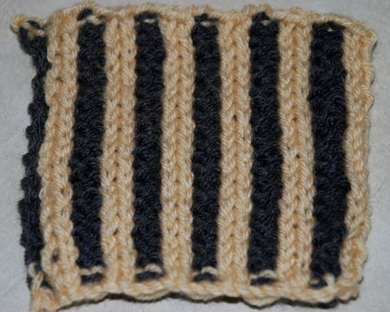 Corrugated Rib, like any other type of ribbing, can be worked on a wide variety or stitch multiples depending on the sort of ribbing you're making.