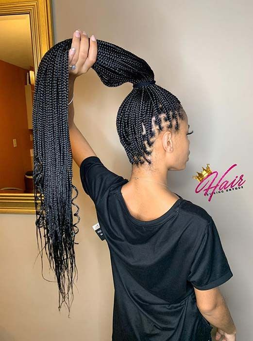 21++ Long small box braids hairstyles ideas in 2021