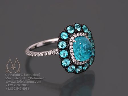 Paraiba tourmaline ring by Leon Mege