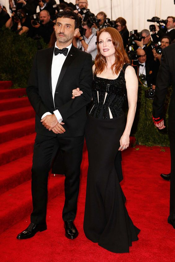 Riccardo Tisci and Julianne Moore