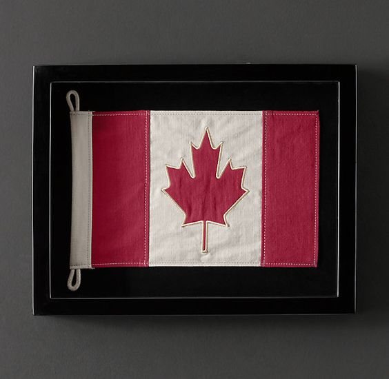 Framed Flag of Canada | Framed Artwork | Restoration Hardware