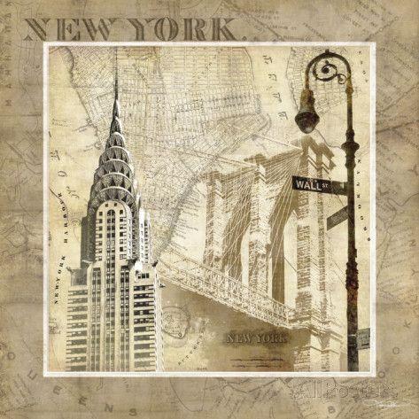 New York Serenade Kunstdruck