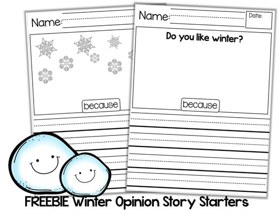 Kickstart your January! (FREEBIES and GIVEAWAY) Click here to print these free Winter Opinion Story Starters!!