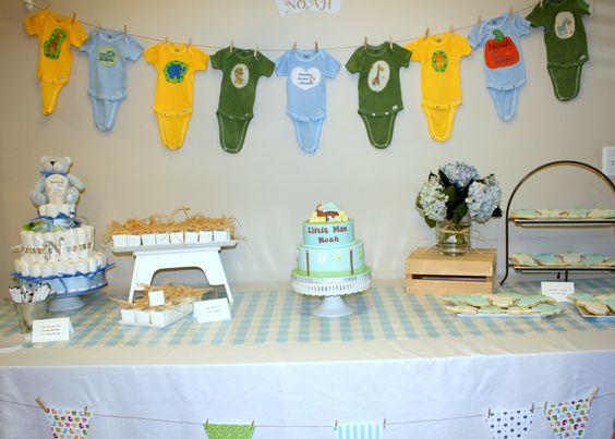 Onesie themed baby shower