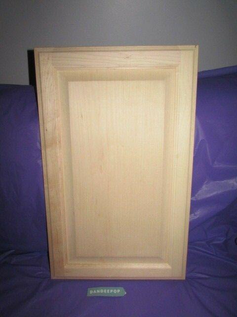 Maple Unfinished Stain Grade Kitchen Cabinet Raised Panel Door 23 7//8 x 14 7//8