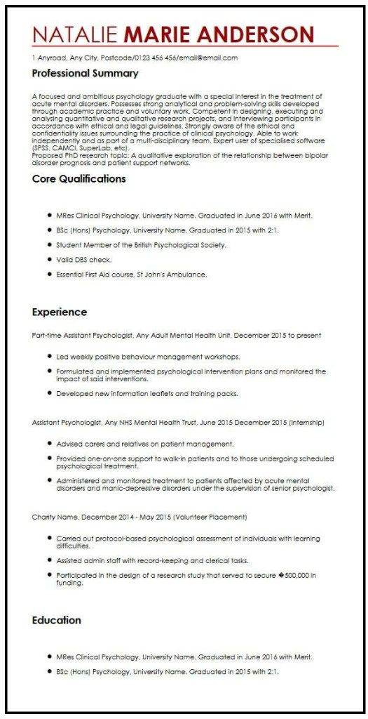 11 Graduate Student Cv Sample Invoice Templatez Student Resume Template Resume Template Cv Template