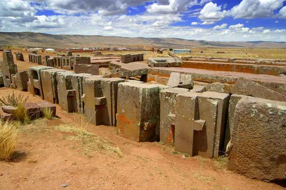 Puma Punku. Stones are made up of granite and diorite. Impossible to cut with the tools used in the period. Yet they have cuts straight as a perfect line. Deep and exact from one end to the other. Each weigh over 800 tons. The nearest quarry is more then 10 miles away.