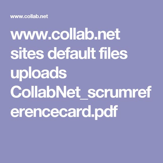 www.collab.net sites default files uploads CollabNet_scrumreferencecard.pdf