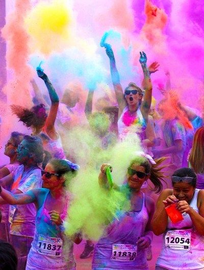 My friends and I have already talked about doing The Colour Run this summer. Looks like such a great time. #summerschoolstyle: