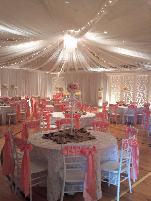 Wedding reception receptions and wedding on pinterest for Wedding banquet decorations