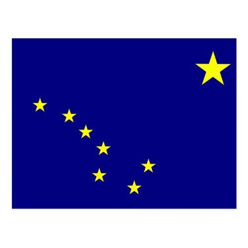 Alaska State Flag Postcard Zazzle Com State Flags Flag Postcard