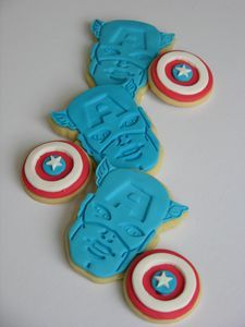 Galleta Decorada de Capitán América