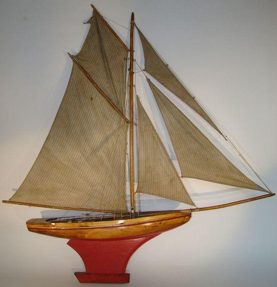 Voilier deffain 5 voiles ray es 1930 long hors tout 1ml pond yachts boats pinterest ebay - Voilier de bassin ancien nanterre ...