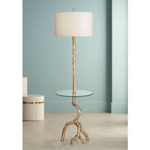 Beachwood Gold Leaf Tree Branch Tray Table Floor Lamp 18w08 Lamps Plus Floor Lamp Table Lamp Floor Lamp
