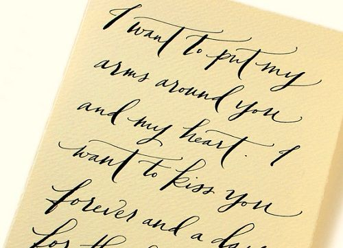 Bad handwriting hire out your love letters words