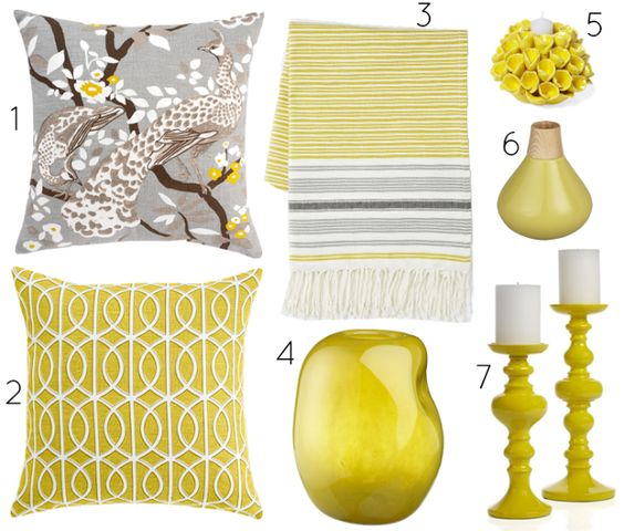 Jaune et gris home pinterest home colors and home for Yellow home decorations