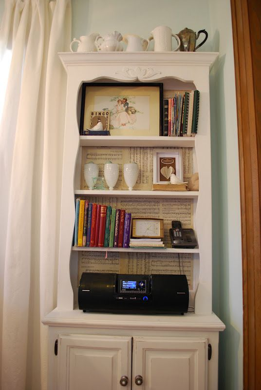 (cozy home scenes) music sheet on the back of the shelf