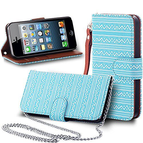 iPhone 5 Case, iPhone 5S Wallet Case, ENDLER [Handbag Series][Wrist Strap] Premium PU Leather[Kickstand][Card Slot][Flip][Wallet]Exact Fit Case for Apple iPhone 5/5s/5g - Turquoise (Lifetime Warranty) ENDLER http://www.amazon.com/dp/B015ODP8P4/ref=cm_sw_r_pi_dp_0It2wb0S0JVZC