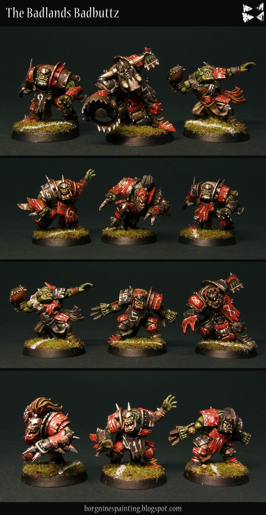 Borgnine S Painting Blog Blood Bowl Orc Team With