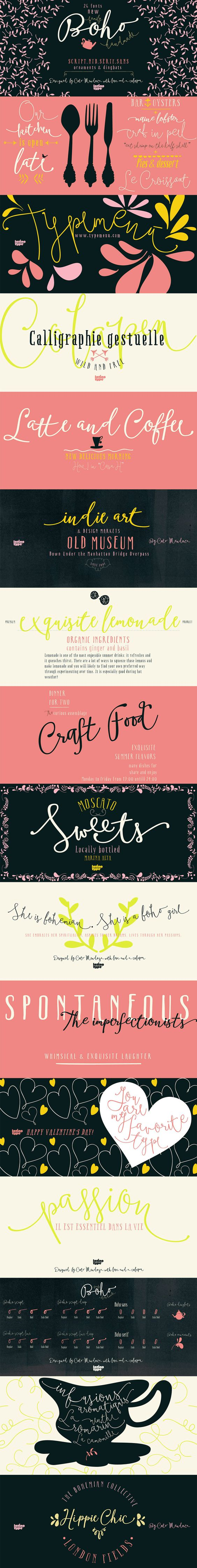 Boho Font by Latino Type   22 Professional & Artistic Fonts Apr 2015