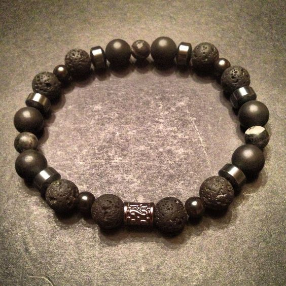 A personal favorite from my Etsy shop https://www.etsy.com/listing/156948825/mens-beaded-bracelet