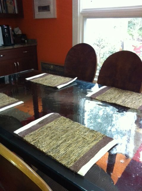 """""""My new rag placemats from re:loom go perfectly at our kitchen table."""" Thank you @Johanna Norry!"""