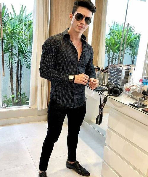 look masculino all black