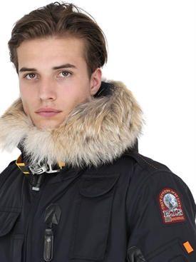parajumpers - herren - freizeitjacken - gobi down bomber jacket w/ coyote fur