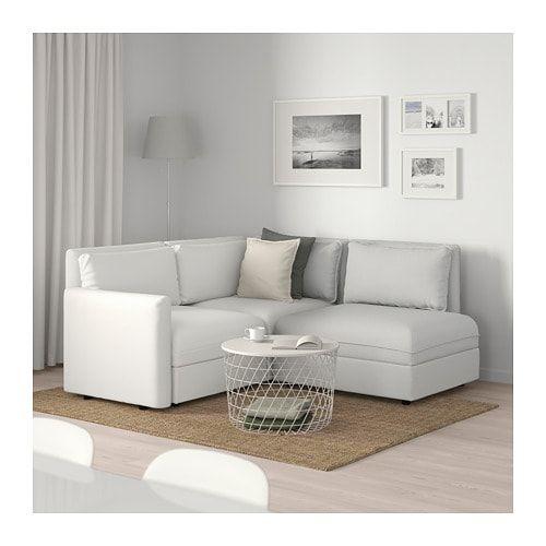 Vallentuna Sectional 3 Seat With Storage Murum Orrsta White Light Gray Ikea Sofas For Small Spaces Modular Corner Sofa Vallentuna